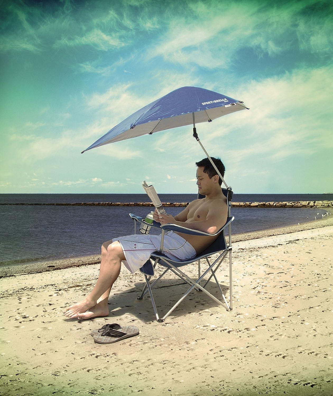 Beach chair with umbrella - Amazon Com Sport Brella Umbrella Chair Blue Sun Shelters Sports Outdoors