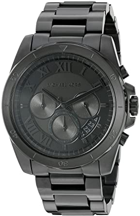 fe9c07f478430 Amazon.com  Michael Kors Men s Brecken Black Watch MK8482  Watches