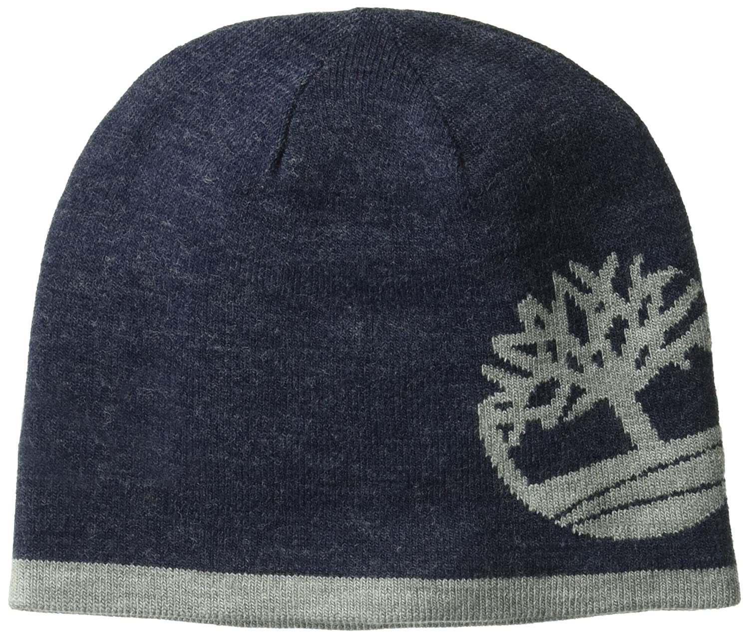 Timberland Mens Standard Reversible Knit in Tree Beanie Black One Size THM340448