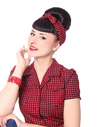 Sugarshock 50s Retro Gingham Pin Up Rockabilly Hairband Frisuren