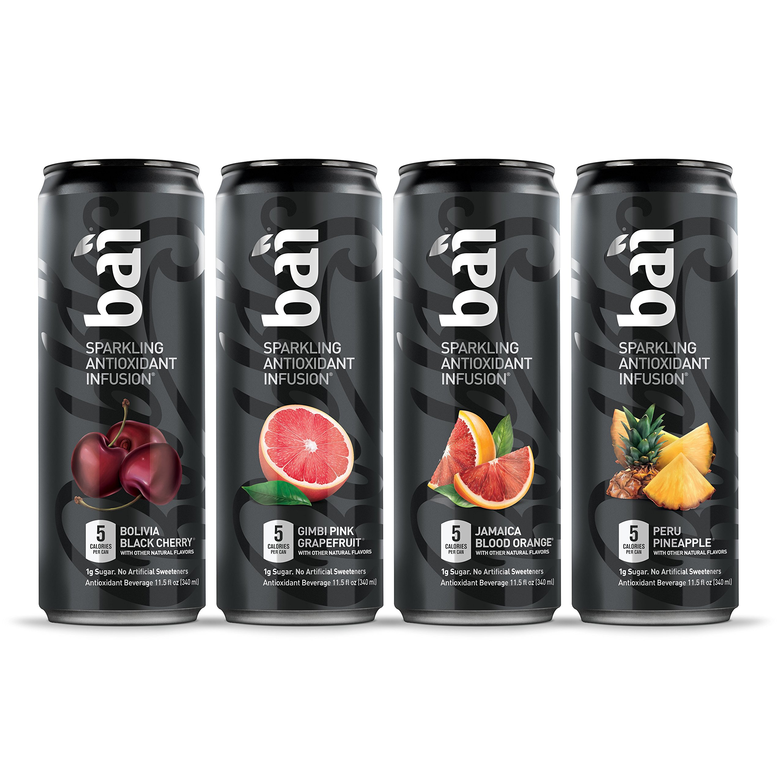 Bai Bubbles Variety Pack, Sparkling Antioxidant Infused Beverage, 11.5 Fluid Ounce Cans, 12 count (Packaging May Vary)