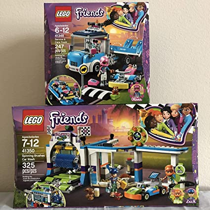 LEGO Friends Spinning Brushes Car Wash 41350
