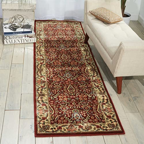 Nourison Persian Arts Burgundy Rectangle Area Rug, 7-Feet 9-Inches by 10-Feet 10-Inches 7 9 x 10 10