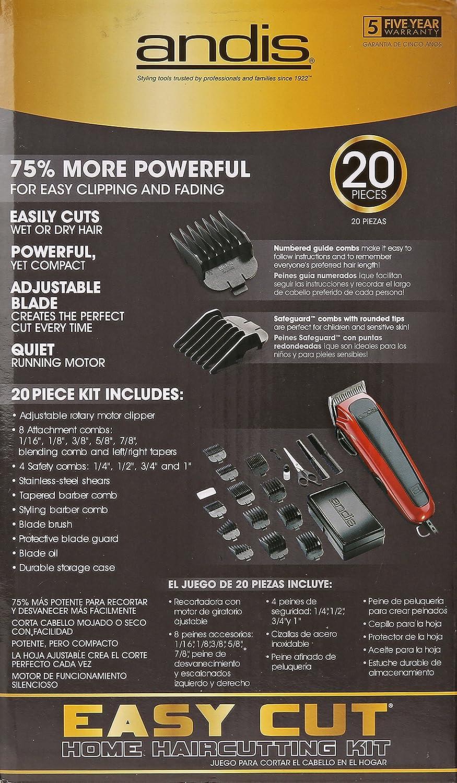 0ca259c4e Amazon.com   Andis Easy Cut 20-Piece Haircutting Kit