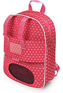 de43c0698adb Badger Basket Doll Travel Backpack with Plush Friend Compartment - Pink/Star