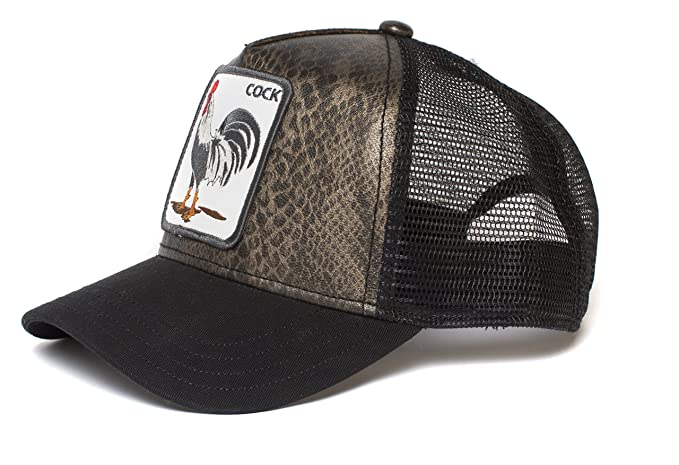 20d902e8 Goorin Bros. Mens Tropical Rooster Trucker Cap Baseball Cap - Black ...