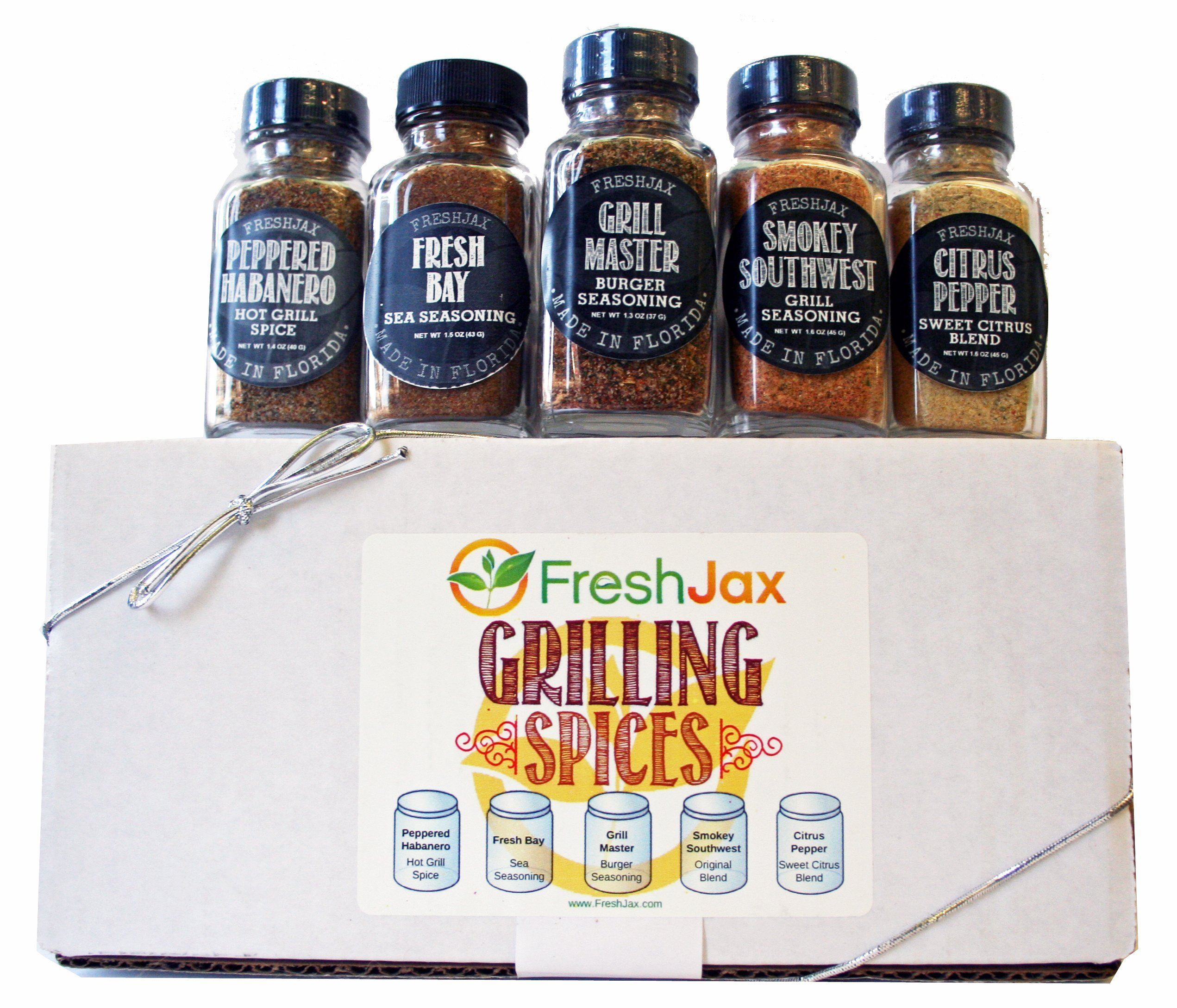 FreshJax Gourmet Spices and Seasonings, Gift Box (Set of 5) 91Qhtq3pXUL