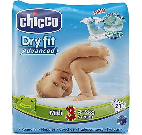 Chicco DryFit - Pack de 21 pañales ultra absorbentes, talla 3, 4-9 kg: Amazon.es: Bebé