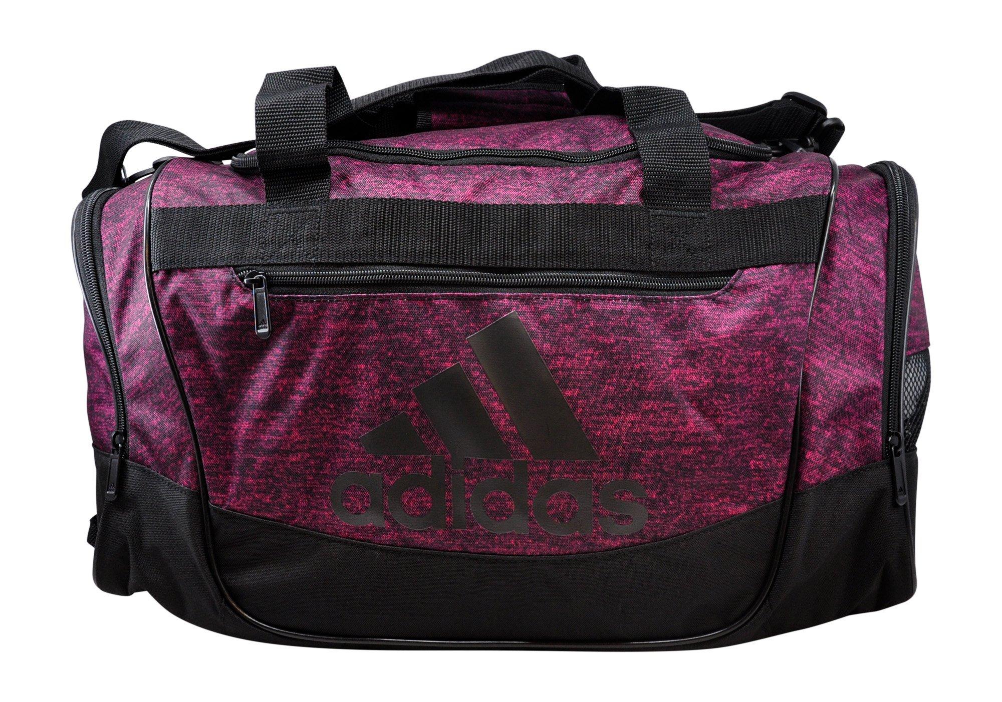 adidas Defender III Duffel Bag (Small, Bahia Magenta Jersey/Black)