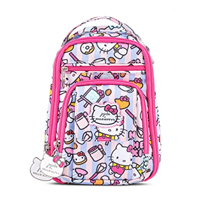 JuJuBe x Hello Kitty Mini Be Right Back | Travel-Friendly, Compact Style Backpack Purse, Adjustable Straps, For Kids and Adults (Hello Kitty Bakery) | Kids' Backpacks