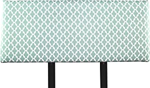 MJL Furniture Designs Alice Padded Bedroom Headboard Contemporary Styled Bedroom Décor, Fulton Series Headboard, Snowy Finish, Queen Sized, USA Made