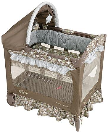 Amazon Com Graco Travel Lite Crib With Bassinet Barcelona