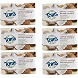 Tom's of Maine Natural Beauty Bar Soap With Virgin Oil, Coconut, 5 Ounce, 6 Count