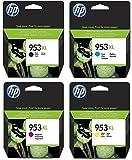 Hewlett Packard HP Original 953XL Tintenpatronen 4er Set schwarz, cyan, magenta, gelb hohe Kapazität (L0S70AE, F6U16AE, F6U17AE, F6U18AE