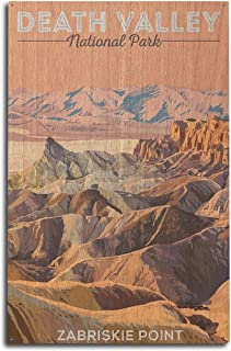 product image for Lantern Press Death Valley National Park, California - Zabriskie Point (10x15 Wood Wall Sign, Wall Decor Ready to Hang)