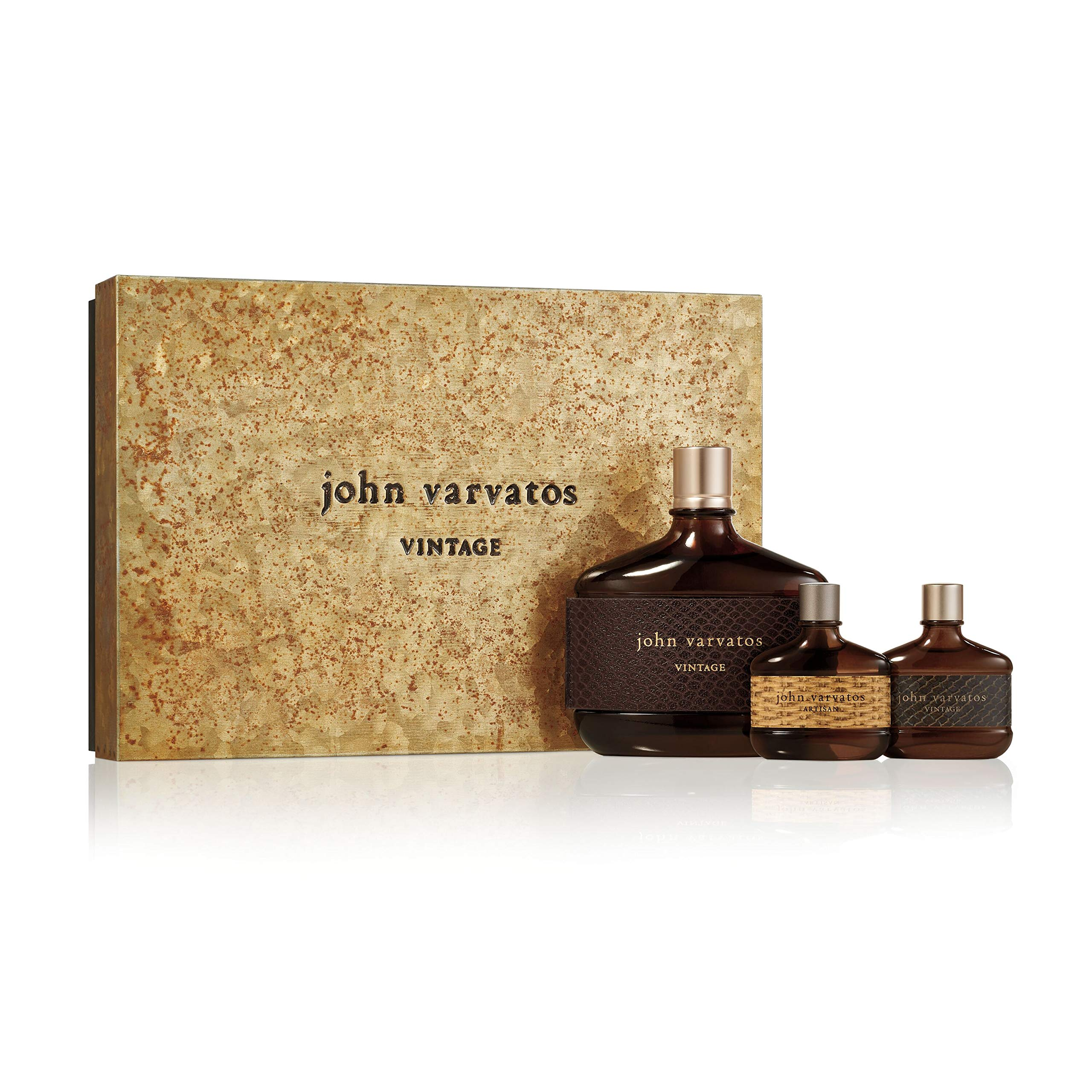 John Varvatos Vintage 3 Piece Fragrance Gift Set, Cologne for Men, 3 ct. by John Varvatos