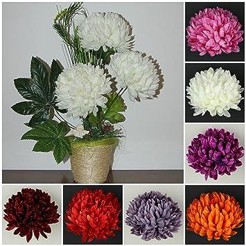 Chrysanthemen Topf Kunstblumen Tischdeko Kunstliche Blumen