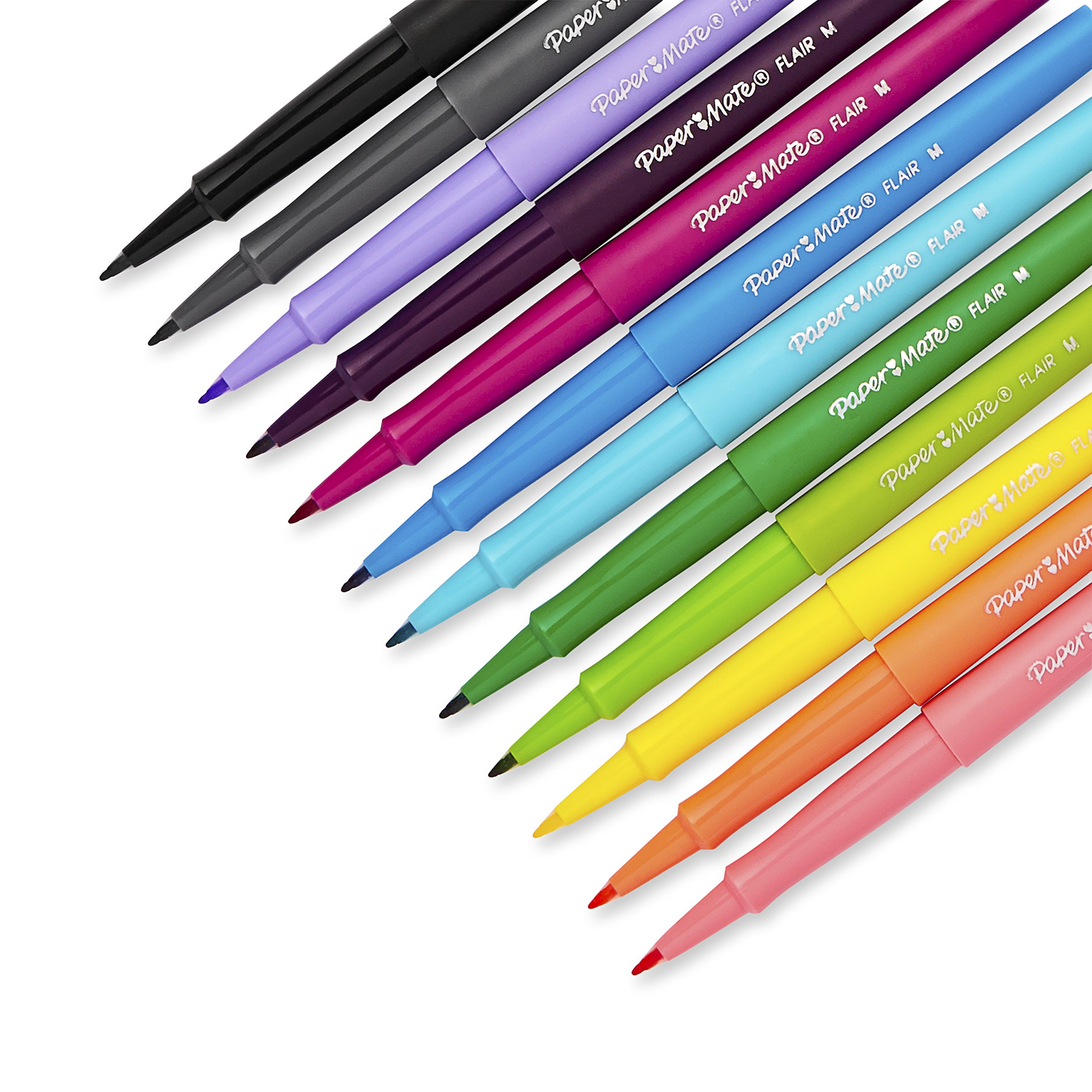 Paper Mate 1928605 Flair Felt Tip Pens, Medium Point (0.7mm), Tropical & Classic Colors, 12 Count by Paper Mate (Image #3)