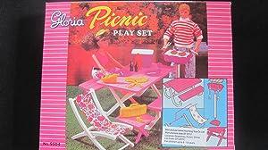 gloria Dollhouse Furniture- Picnic Set For Barbie Dolls