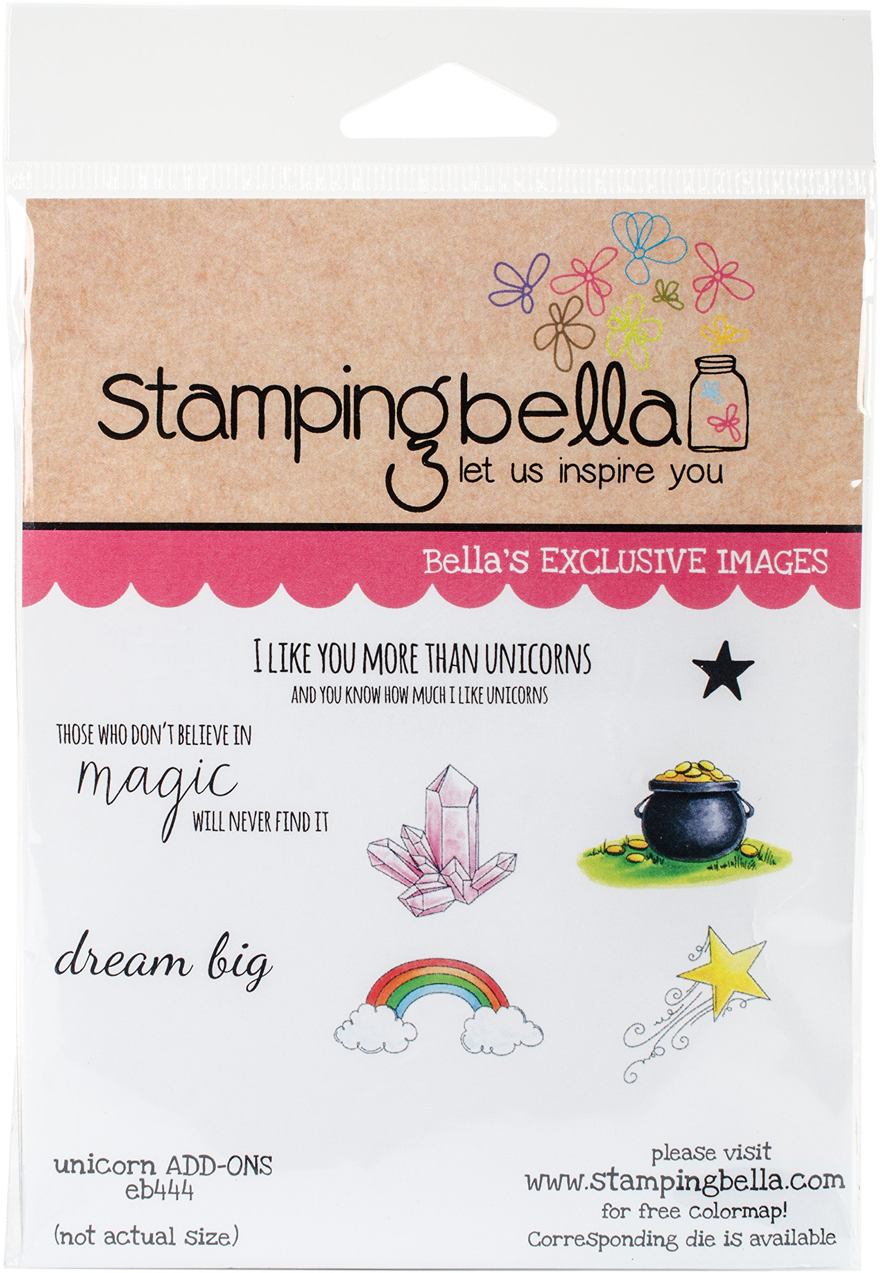 Stamping Bella EB444 Cling Stamps-Unicorn Add-Ons by Stamping Bella