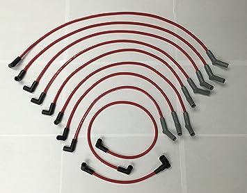 Ford 4.2L 5.0L 5.8L 6.1L 7.0L 7.5L 78-97 rojo de 8,5 mm de alto rendimiento Cable de Bujía Set 98403r: Amazon.es: Coche y moto