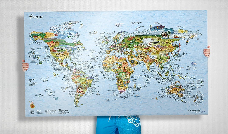 ספוטים על הקיר: מפת עולם של הגלישה זה מאסט לגולשים