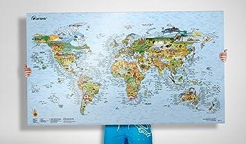 Carte Du Monde Kitesurf.Awesome Maps Surftrip Map Carte Du Monde Du Surf Reinscriptible 97 5x56 Cm Englisch