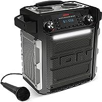 ION Audio Block Rocker Sport - 100W Ultra-mobiler, wasserfester Aktivlautsprecher mit langlebigem Akku, Bluetooth, Mikrofon, Radio, LED-Leiste und Aux-Eingang