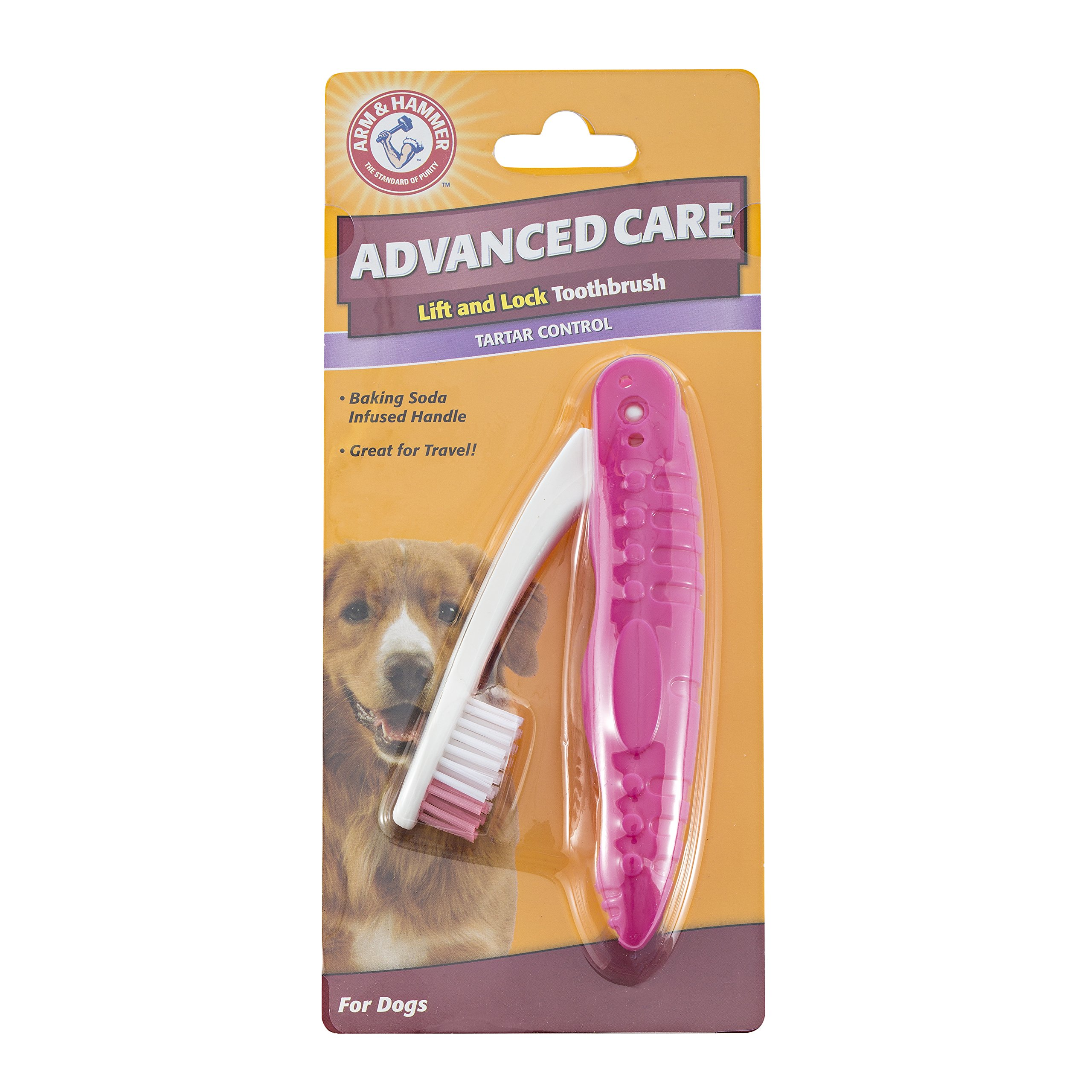 Arm & Hammer Dog Dental Care Lift and Lock Toothbrush for Dogs