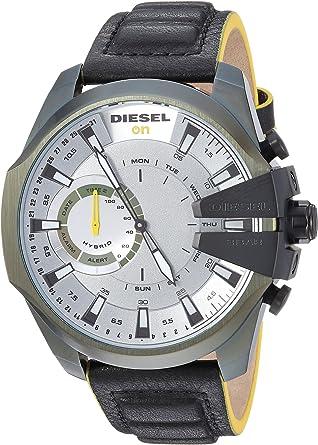 Diesel On - Reloj Inteligente híbrido para Hombre, Piel sintética, Piel ...