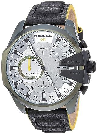 Diesel DZT1012 Montre connectée Hybride pour Homme Acier Inoxydable Noir