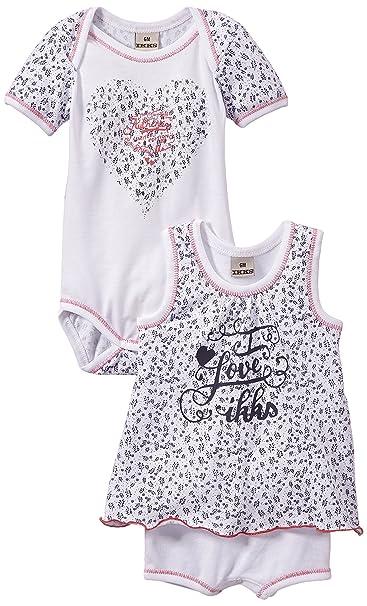 IKKS Underwear 2 BODYS - Ropa interior para niñas, color blanco, talla 50/