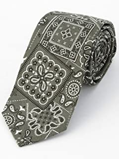 Cotton Bandana Print Tie 118-25-0186: Green