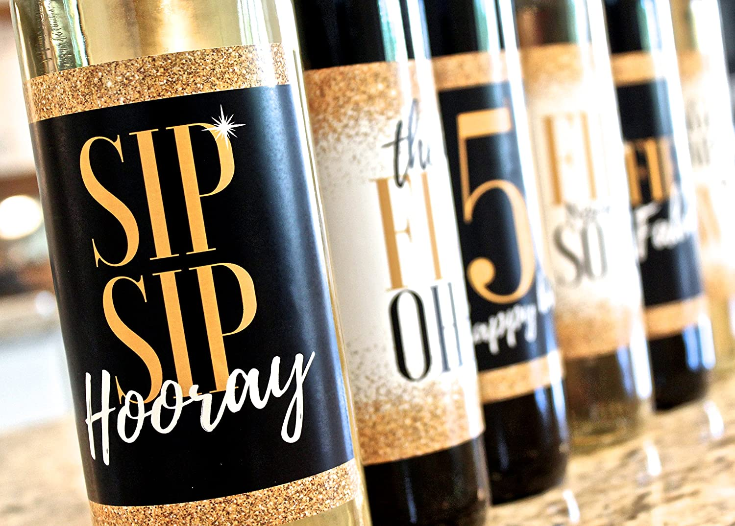 Mom Fifty Never Looked So Good Girl Funny Fifty Black /& Gold Party Decorations Supplies for Friend Bday Gifts for Her Wife 6 Premium 50th Birthday Wine Bottle Labels Or Stickers Present