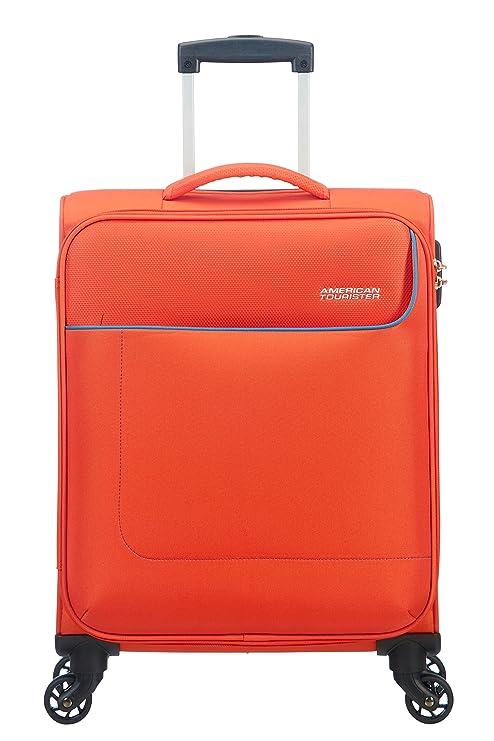 52f6f6cff3db00 American Tourister - Funshine Spinner Bagaglio a mano Unisex, Poliestere,  Arancione (Mandarina)