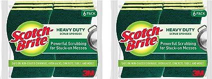 Pack of 24 MR SIGA Heavy Duty Scrub Sponge Size: 11 x 7 x 3cm