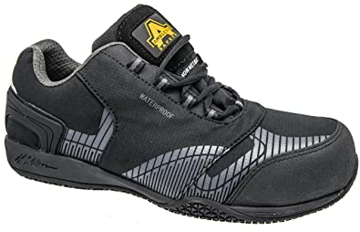748f22af251 Mens Amblers Black Leather Composite Waterproof Safety Trainer Shoes Sizes  6 7 8 9 10 11