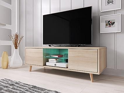 Vivaldi sweden mobile tv stile scandinavo colori rovere sonoma con