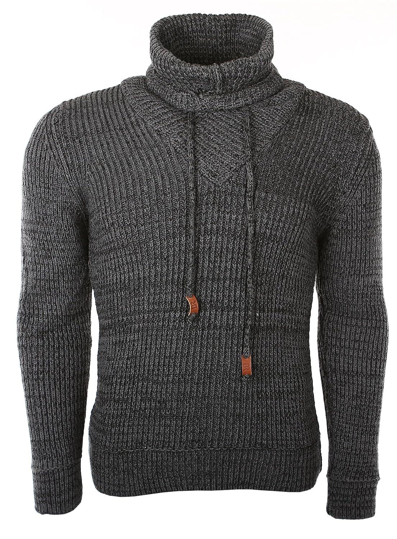 Black Rock Men's Winter Chunky Knit Turtleneck Sweater BR7102 Size M to XXL