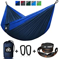 $23 Get Double and Single Camping Hammocks - Hammock with Free Premium Straps & Carabiners…