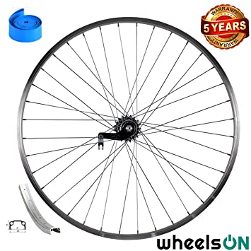 26 inch wheelsON Rear Wheel Back Pedal Coaster Brake 36H Silver Single Wall