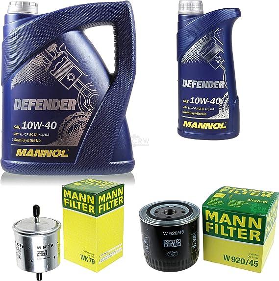 Filter Set Inspektionspaket 6 Liter Mannol Motoröl Defender 10w 40 Api Sl Cf Mann Filter Ölfilter Kraftstofffilter Auto