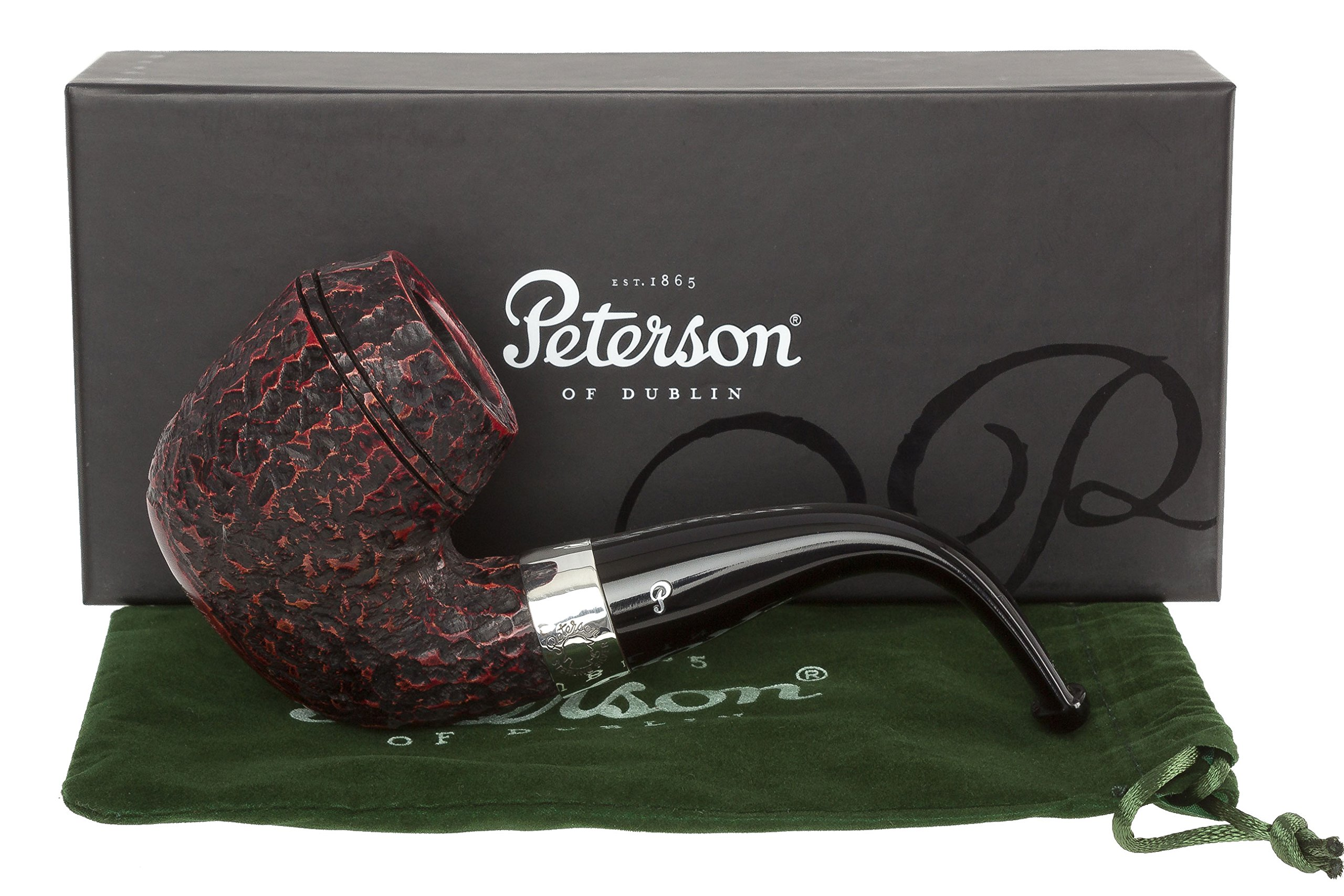 Peterson Sherlock Holmes Watson Rustic Tobacco Pipe Fishtail