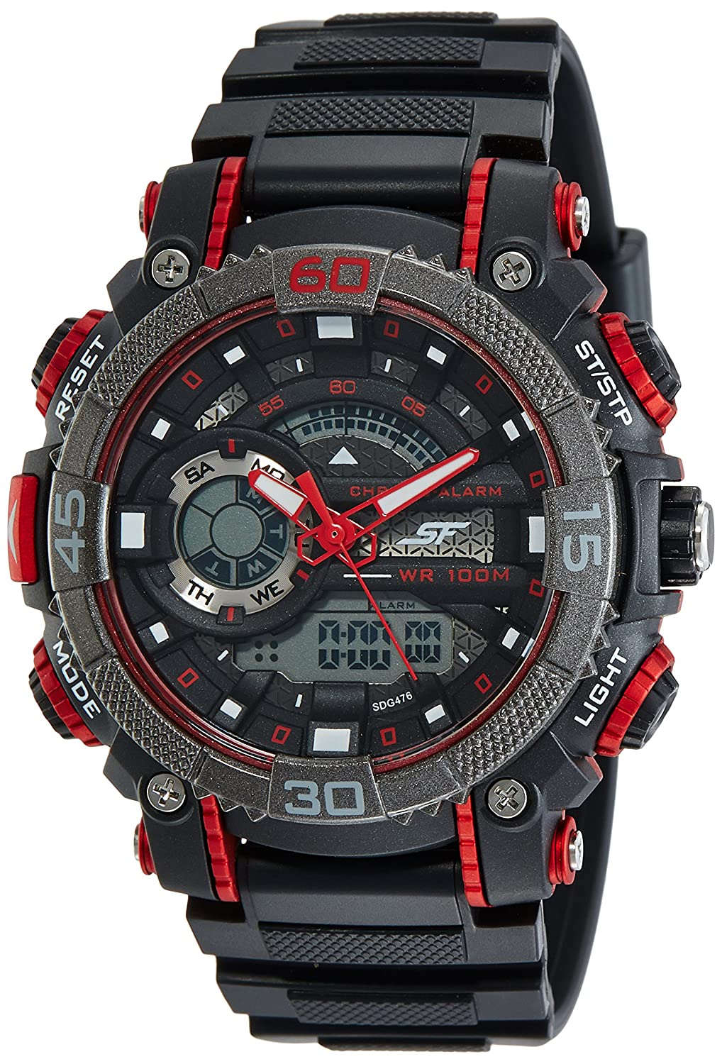 Sonata Fibre (SF) Digital Black Dial Best Sports Watches For Men to Buy Right Now in India