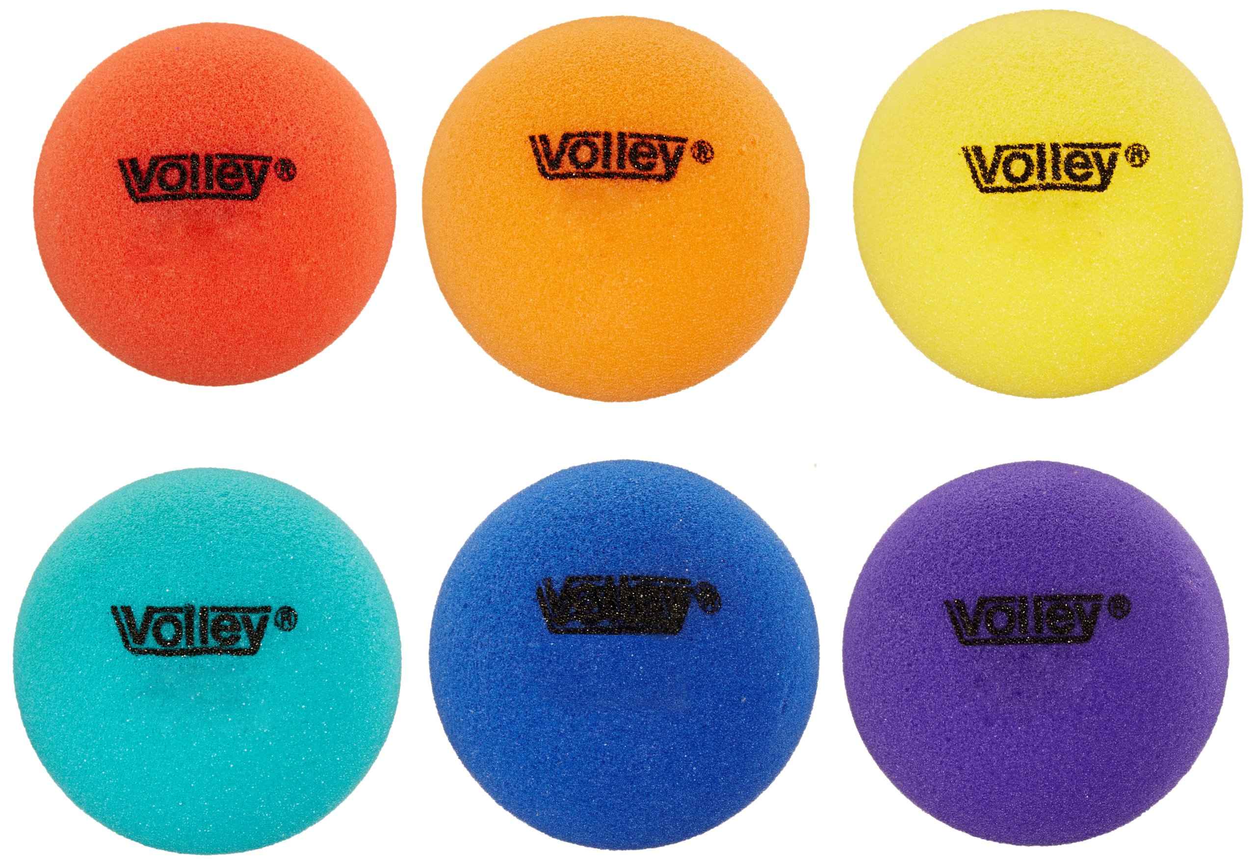 Volley 3-1/2 in Uncoated Very Low Bounce Foam Balls, Set of 6 by Volley