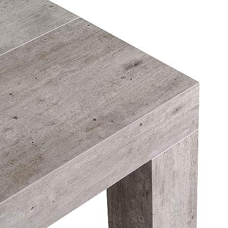 icreo Tavolo CONSOLLE ALLUNGABILE Modello ATENA Cemento CM 46/306X90 ...