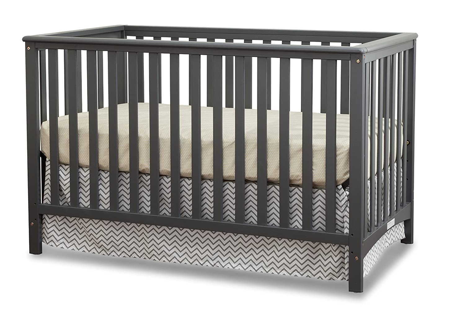 Storkcraft Hillcrest 4-in-1 Convertible Crib, Gray 04520-03G