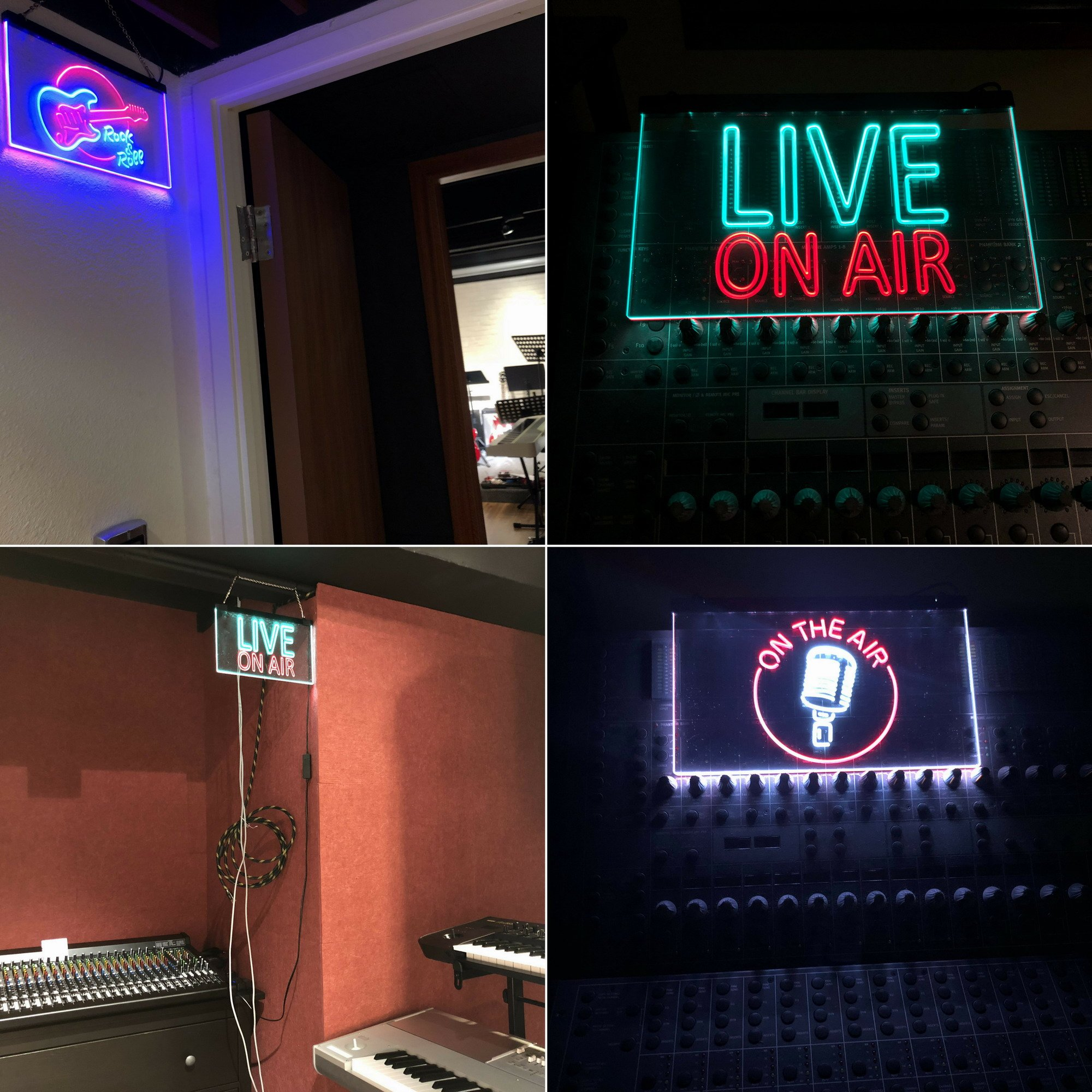 AdvpPro 2C On The Air Microphone Studio Recording Signal Dual Color LED Neon Sign White & Red 12'' x 8.5'' st6s32-m2028-wr by AdvpPro 2C (Image #6)