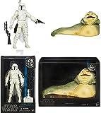 "Star Wars The Black Series 6"" Boba Fett (Prototype Armor) Figure & 6"" Jabba the Hutt Figure Bundle"