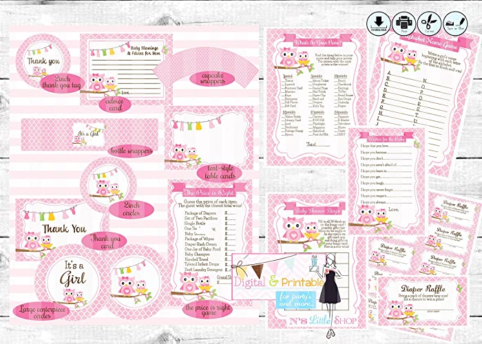 graphic about Printable Pdf Files referred to as : Owl Youngster Shower printable bash, not editable